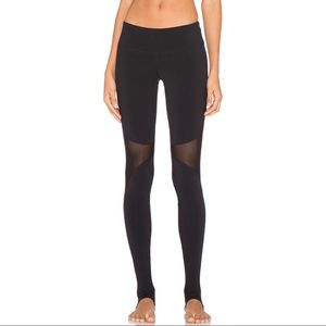 ALO Yoga Coast Leggings Black w/ Mesh Panels Sz XS